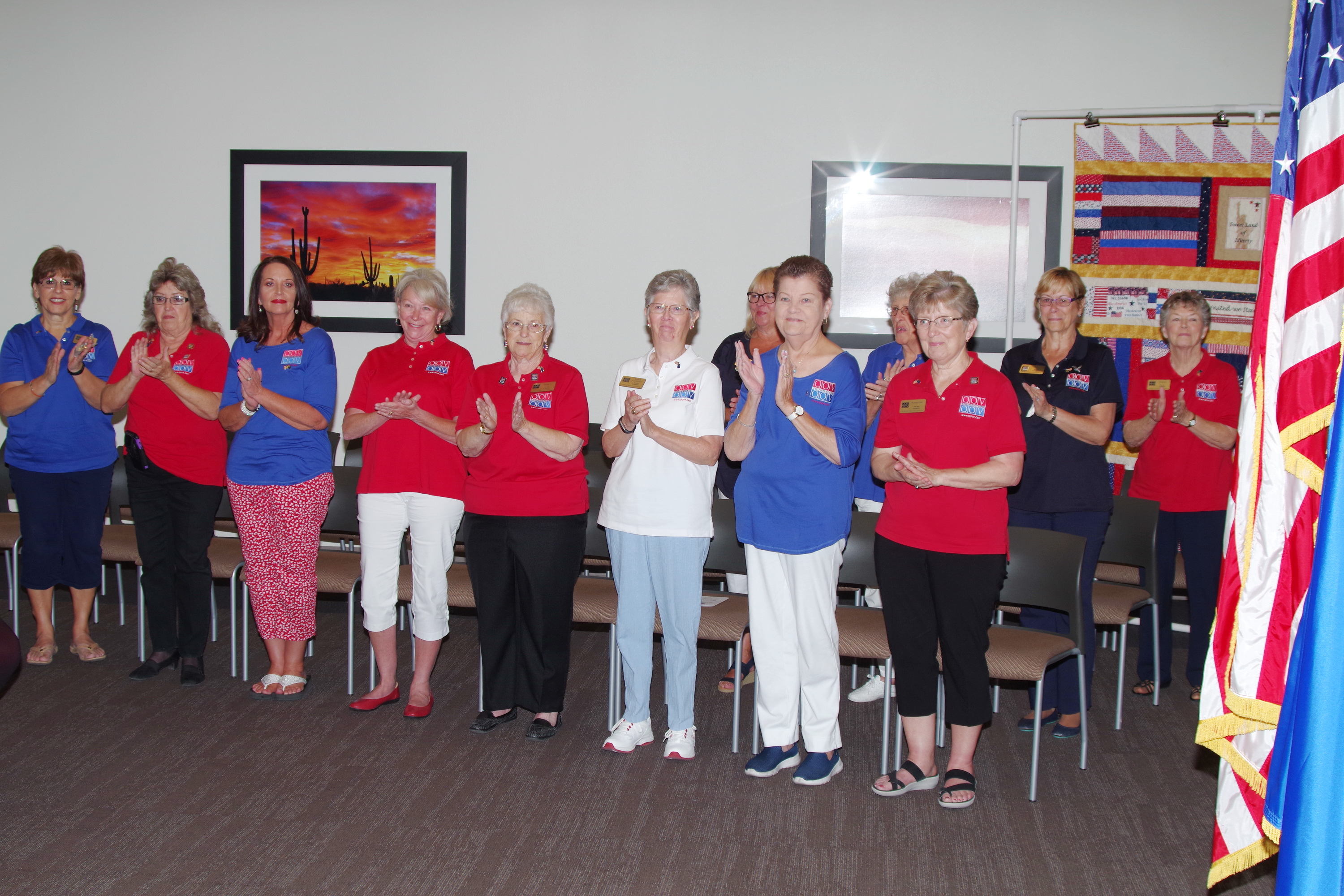 Some of the Members of theNye County Quilts of Valor at ceremony June 9th