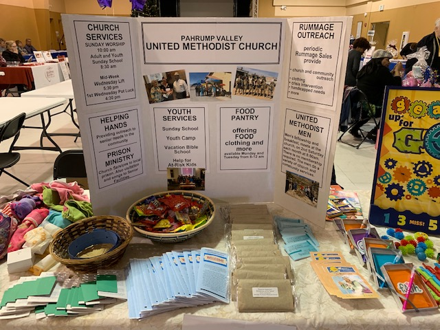 The PVUMC display table at the Social Services Fair 2019