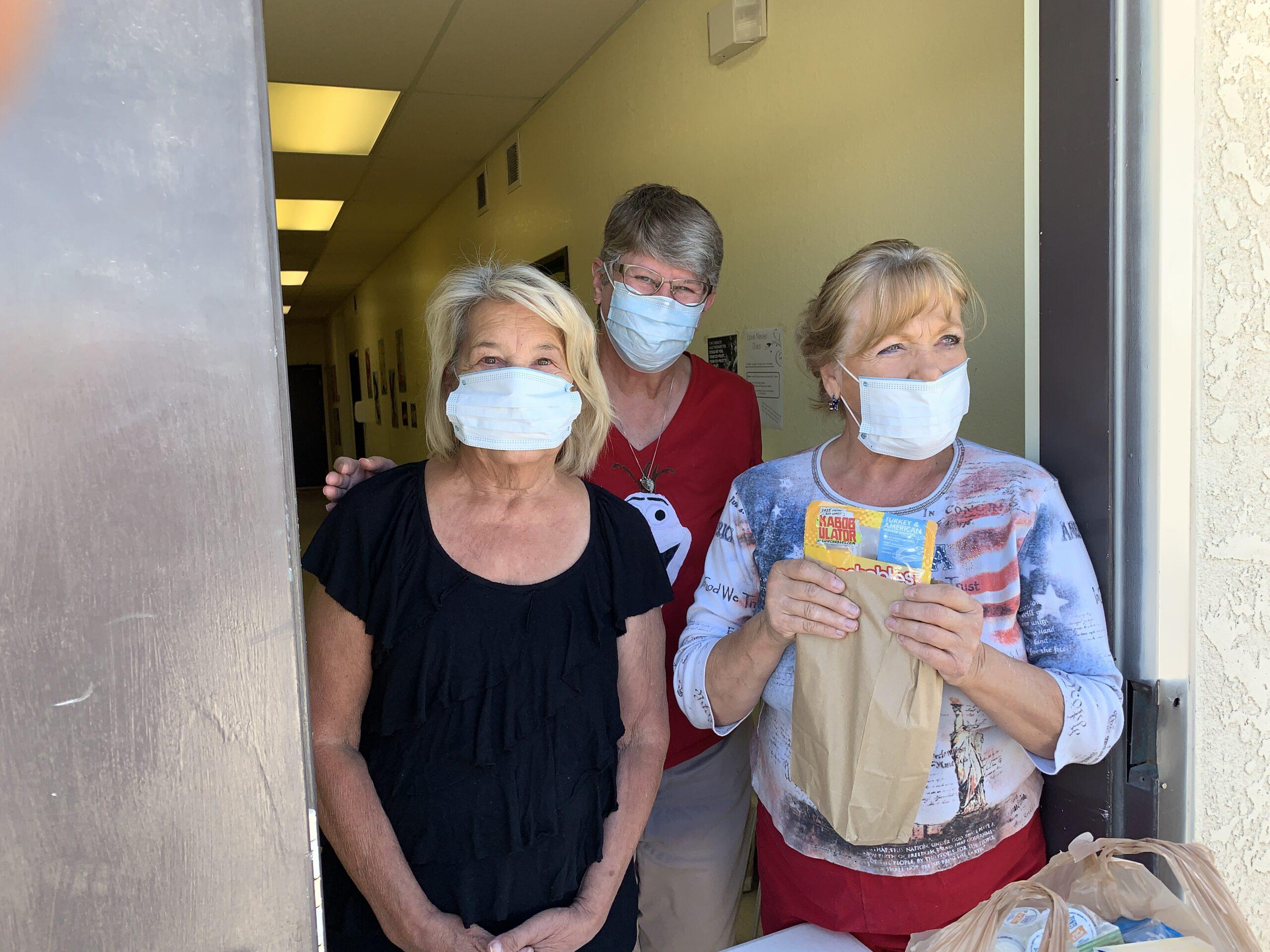 Volunteers at the Food Pantry