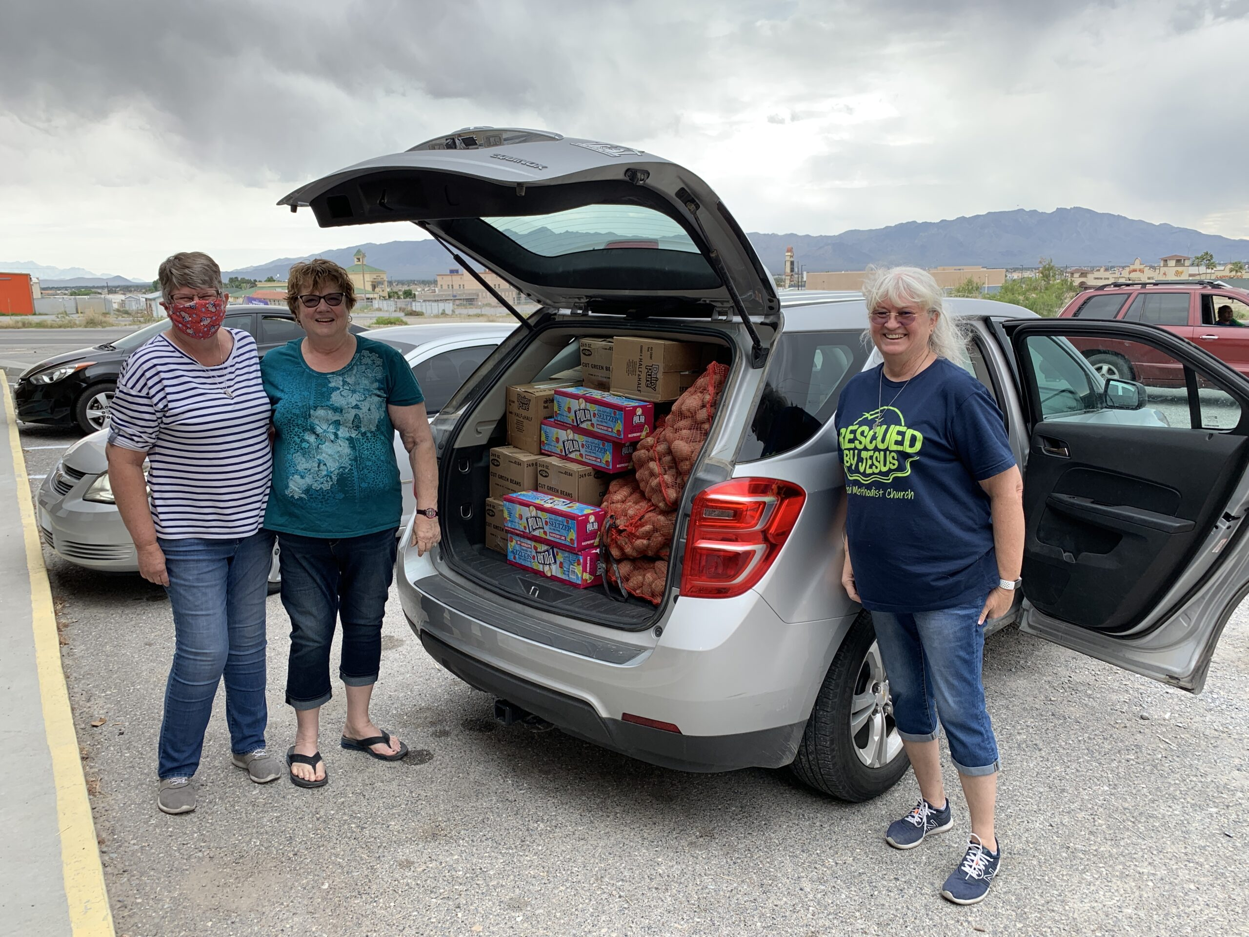 Stocking the Food Pantry